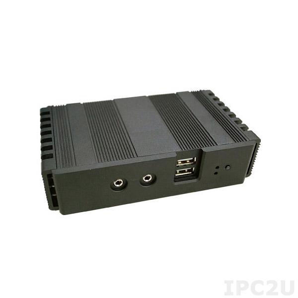TC2590 TWIN Embedded Server, Intel Atom E3815 Single Core 1.46GHz 2I380A CPU Card, 2GB DDR3 on-board, VGA, HDMI, 1x Gbit LAN, COM, 4xUSB, mSATA Half-Size, Mini-PCIe Full-Size, 12V External Power Adapter
