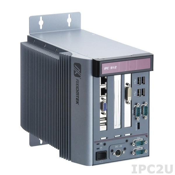 IPC912-211-FL-HAB100 DC 2-slot Fanless System with Socket P for Intel Core 2 Duo processor, w/ 2x PCIe expansion slots, DC-in ATX 150W P/S