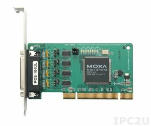 POS-104UL 4xRS-232/921,6Kbps Low-Profile UPCI Board, Universal PCI Bus, Female DB44, 15KV ESD without Cable