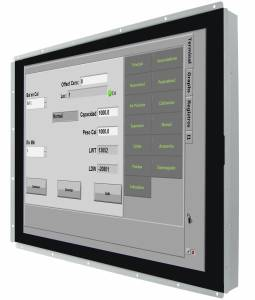 """R15L600-POC3-C 15"""" Open Frame LCD display, 1024x768 Resolution, 250 cd/m2, 2000:1 Contrast Ratio, 16.2 M of colors, PCAP, input USB only, power USB Type-C"""