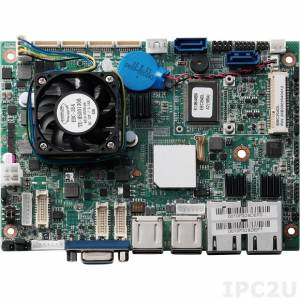 """EBC-354DL 3.5"""" Low power Embedded Board with Intel Atom D2550 1.86GHz CPU and NM10 Express Chipset, DDR3, VGA/2xLVDS, 2xGbE LAN, 2xSATA, 3xRS-232, 1xRS-232/422/485, 6xUSB, DIO, Audio, 2xMini PCIe Expansion Slots, +12V DC-in, w/o Cable kit"""