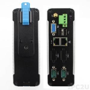 D-3330-852 DIN rail mountable Embedded PC, Vortex86DX2 933MHz CPU, 1GB DDR2 RAM, LAN, GbE LAN, 2xUSB, 2xRS-485, SATA, SD slot, 8..24V DC, operating temp. 5..50 C