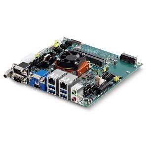 AmITX-BT-I-E3845 Mini-ITX Embedded Board with Intel Atom E3845 1.91GHz, DDR3L RAM, VGA/24-bit LVDS/HDMI, 2xGB LAN, 6xCOM (4 int.), 4xUSB 3.0, 6xUSB 2.0 (4 int.), mSATA, PCIe x1, MiniPCIe, GPIO, Audio
