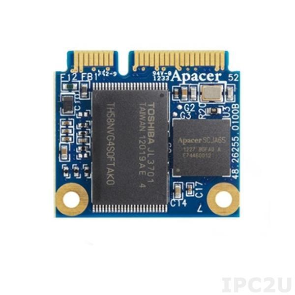 APSDM032GN5AN-PCW APACER Mini-mSATA SSD, SATA 2, 32GB, SLC, operating temperature -40..85C