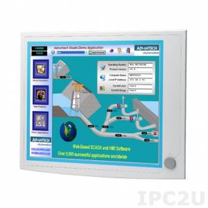 "IPPC-6192A-R2AE 19"" TFT LCD LED Panel PC, resistive touch, support Intel Core i7/i5/i3 Haswell, 2x240-pin DDR3-1066/1333, 2x2.5"" SATA HDD, 2xLAN, 3xCOM, 5xUSB, VGA, 2xPCI, power supply 100-240V AC 350W"