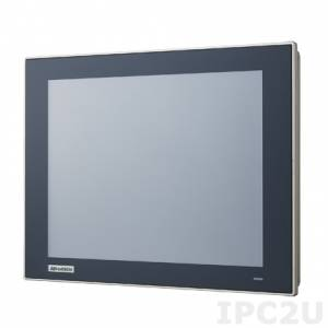"TPC-1251T-E3AE 12.1"" TFT LCD LED Fanless Panel PC, true flat resistive touch (IP66), Intel Atom E3827 1.75GHz, 4GB DDR3L, 1xCFast, 2xLAN, 2xCOM, 2xUSB, 1xMini PCIe, power supply 24V DC"