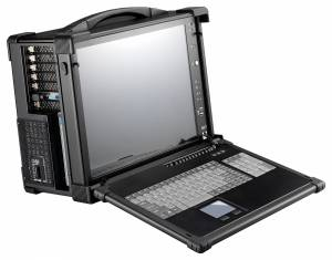 """ARP670-S17B Aluminum case for a workstation with display 17"""" SXGA 1280x1024 TFT LCD/display interface VGA/10 expansion slots/compartments 1x5.25""""/2x3.5""""/1xSlim DVD/2xSpeakers 3 W/104 keys keyboard/touchpad /1U 650 W Power/support PCIMG/PCIMG 1.3"""