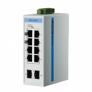 EKI-5729FI-AE 8-port+2 SFP Gigabit Ethernet ProView Switch, w/ Wide Operating Temperature Range: -40...+75C