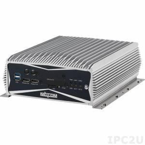 NISE-3600E-500G-i3-4G-REM-W7 Embedded Computer, Intel Core i3-3120ME, 4GB DDR3, 2xDisplay Port, DVI-D, VGA, 2xLAN, 4xCOM, 500GB HDD, Real Time Ethernet, 9-30V DC, Windows Embedded Standard 7