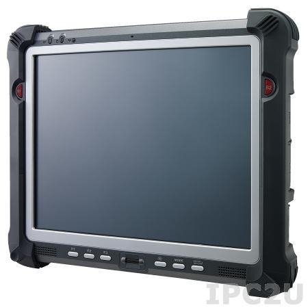 "PWS-770-S3AWPC001E Rugged Tablet PC 10.4"" XGA LED, sunlight readable resistive touch screen, Intel Atom N2600 1.6GHz, 2GB DDR3, 32GB SSD, 1xSD card slot, 2xUSB 2.0, 1xRS-232, VGA, WLAN, Bluetooth, GPS, 3G, camera 2.0 MP, Audio, power supply 19V DC, Win7 Pro"