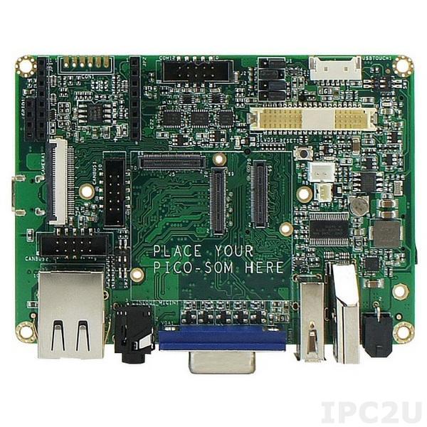PICONYIMX6U10R1GBSDBW PICO NYMPH GL with PICO SOM Freescale I.MX6 DUALLITE 1GHz, 1GB RAM, SD Card Slot, Wi-Fi 802.11a/c, Bluetooth 4.0