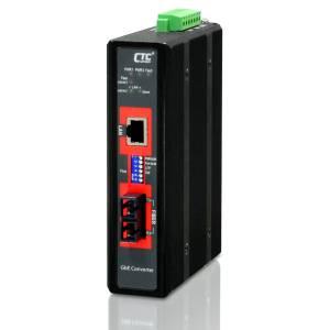 IMC-1000-PHE12-SC001 Industrial Unmanaged Gigabit PoE Media Converter 10/100/1000 Base-T to 100/1000 Base-X Fiber Optics Multi-mode SC port, Distance 500m, Redundant dual 12/24/48VDC input power, -20.. 75C Operating Temperature