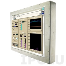 """R15L600-67C3 Industrial Stainless 15"""" LCD Display, Full IP67, 1024x768, front panel stainless steel, VGA, external power adapter 12V 100-240V AC, power supply 12V DC (M12)"""