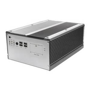 "FPC-7512 Extreme Rugged Fanless Embedded Server, PGA988 for Intel Core i5/i7/Celeron, DDR3, DVI-I, DVI-D, 2xGbit LAN, 4xRS232, 8xUSB, Audio, CFAST Socket, 2.5"" HDD Bay, 2x PCIe x8, 10-28V DC-In, Wallmount Kit"