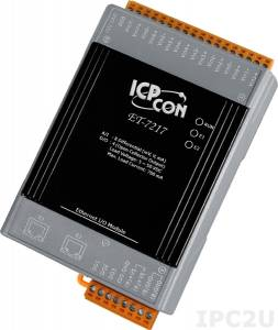 ET-7217 Ethernet I/O Module with 2-port Ethernet Switch, with 8-ch AI, 4-ch DO (RoHS)