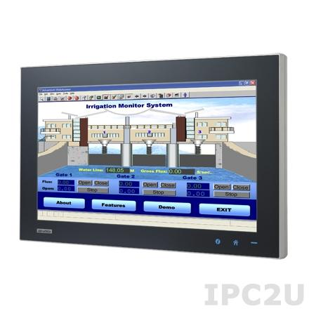 "SPC-2140WP-T3AE Fanless Panel PC WXGA 21.5"" TFT LCD LED, projected capacitive touch, AMD T56N 1.65GHz CPU, 4GB DDR3, 1x2.5"" SATA HDD, 5xM12 (1xUSB, 1xRS-232, 2xLAN, DC input), power supply 24V DC"