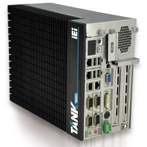 TANK-860-QGW-i5/8G/4A-R10 Embedded System, Intel Core i5-4400E CPU, 2 x 4GB DDR3 memory, 2 x PCIe and 2 x PCI expansion, Dual GbE, COM, DIO, VGA/DVI-I/DisplayPort, iRIS-2400 optional, with QTS-Gateway, 9 V~36 V DC, RoHS