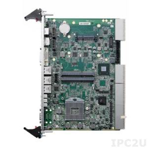 cPCI-ET6210/710Q/M8G 1-slot 6U cPCI with Intel Corei7 -2710QE and 8GB DDR3-1333 memory with GbE x3, COMx2, DP, DVI-I, USB x3, SATA x2, KB/MS, CFast and PMC/XMC,with ETT -40~ +70