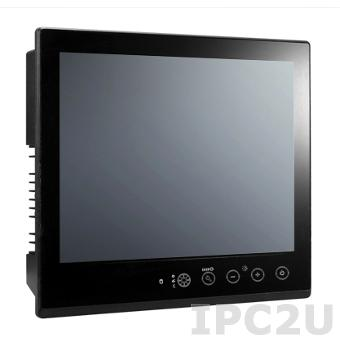 MPC-2157Z-T 15-inch fanless panel computer with Intel Core i7 3517UE 1.7GHz CPU, capacitive touch screen, RS-232/422/485 serial ports, Gigabit LAN ports, USB 2.0 ports, -40 to 70C operating temperature, 2.5' SSD tray and CFast slot, dual AC/DC power inputs