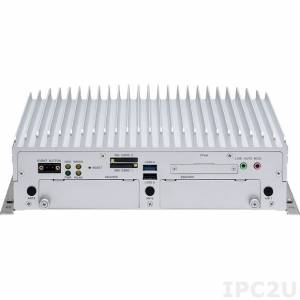 "VTC-7200-BK Embedded Server Intel Core i3-4010U 1.7GHz CPU, 2GB DDR3, VGA, DisplayPort, 2xGbit LAN, 2xRS232, RS232/422/485, 2xUSB 3.0, 2xUSB 2.0, 4xDI/4DO, Audio, CFast Slot, 2x2.5"" SATA Drive Bay, 4xMini-PCIe, 9..36V DC-In"