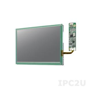 "IDK-1107WR-50WSA1E 7"" LCD 1024 x 600 Open Frame LCD Display LED, 500nit, resistive touch LCD kit (USB), LVDS interface"