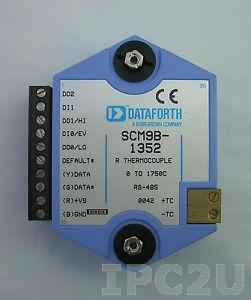 SCM9B-1712 DAQ Module, Input 0...+30 V, Output: open collector to 30 V, 100 mA max, RS-485, protocol ASCII