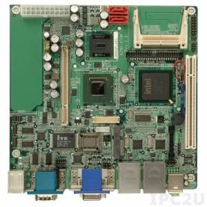 KINO-945GSE-N270-R12 Mini-ITX SBC with Intel Atom N270 1.6Ghz per Intel 945GSE+ICH7M, 200-pin DDR2 400/533MHz SO-DIMM, 1xVGA, 1xDVI-D, 1xLVDS, 3xRS-232, 1xRS-232/422/485, 2xPS/2, 1xCF Type II, 6xUSB 2.0, 1xIDE, 2xSATA, 1xPCI, 1xPCIe Mini, LAN, Audio