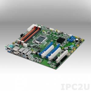 ASMB-784G2-00A1E Intel Xeon E3-1200 v3 ATX Server Board with DDR3, VGA/DVI-D, 4xGB LAN, 8xUSB 2.0, 2xUSB 3.0, 6xSATA III, 2xPCIe x16, 2xPCIe x1, 3xPCI