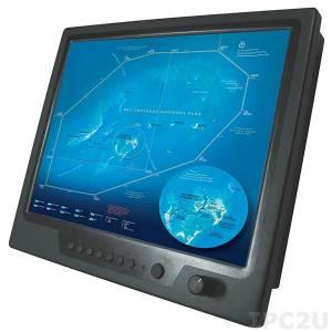 "NPD1744-ETAW-J01 17"" TFT LCD LED Marine Grade Display, 1000 nits, 1280x1024, resistive touch screen (USB), 2xVGA, 2xDVI, 3xCompositex, power supply 9-36V DC"
