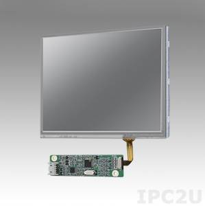 """IDK-1105R-50VGA1E 5.7"""" LCD 640 x 480 Open Frame LCD Display LED, 500nit, resistive touch LCD kit (USB), LVDS interface"""