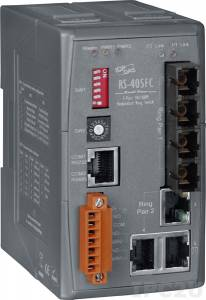 RS-405AFC-T Industrial Redundant Ring Switch with 3 10/100 Base-T Ports and 2 100 Base-FX (multi mode) Ports