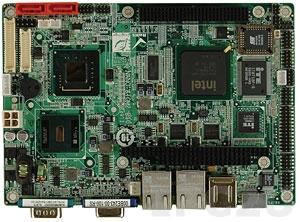 NANO-945GSE2-N270-R10 EPIC Embedded Intel Atom N270 1.6GHz CPU Board with VGA/LVDS, 2xGb LAN, PC/104+, CF Socket, SATA, Audio