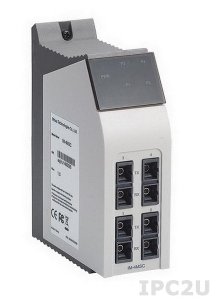 IM-4MSC Interface Module with 4 100 BaseFx Ethernet Ports, Multi Mode, SC Connectors