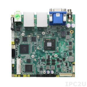 NANO831VGGA-N2600 Nano-ITX Intel Atom N2600 1.6GHz + Intel NM10 CPU Card with DDR3, VGA/LVDS, 2xGigabit LAN, 2xCOM, 6xUSB, CFast, PCI Express Mini Card, Audio