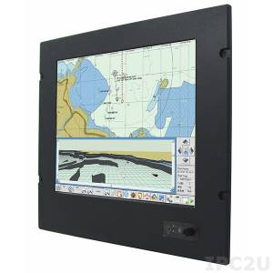 "R15ID3S-MRM2/TS Marine Panel PC 15"" TFT LCD, resistive touch screen, Intel Atom N2600 1.6GHz, 2GB DDR3, 32GB SSD, VGA, 3xCOM, 2xUSB, 2xGbE LAN, 1xSATA II, Audio, power supply 9-36V DC"