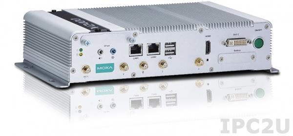 V2403-C2-T x86 embedded computer with Intel Celeron 1047UE 1.4GHz, 4GB DDR3 RAM, DVI-I, HDMI, 2xGB LAN, 4xCOM, 4xUSB 2.0, 4 DI/4DO, CFast, 9...36VDC-in, -40...+70C