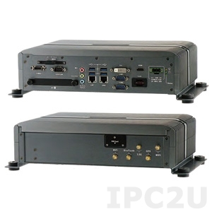 "AIV-HM76V1FLCE1 Embedded Server Intel Celeron 1047UE 1.4GHz CPU, 2GB DDR3, HDMI, DVI-D, Video-out (combo with USB, Audio, Power), 4xUSB, 2xGbit LAN, RS232, RS232/422/485, 4xDI/4DO, Audio, 2x2.5"" SATA Drive Bays, 2xMini-PCIe, 9..32V DC-In"