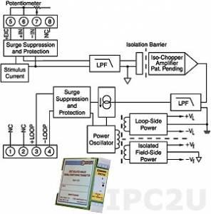 DSCT36-02 Potentiometer Input Transmitter, Input 0...500 Ohm, Output 4...20 mA