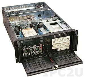 """GH-432ATXR 19"""" Rackmount 4U Chassis, EATX, 3x5.25""""/1x3.5"""" FDD/2x3.5"""" HDD Drive Bays, without P/S"""