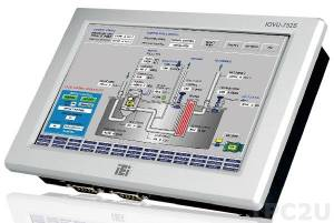 """IOVU-752S-CE6/-R10 7"""" WVGA LCD Fanless Touch Panel Computer with Samsung S3C6410 ARM11 677MHz CPU, 256MB DDR2, LAN, PoE, 2xCOM, 2xUSB, Audio, WinCE 6.0"""
