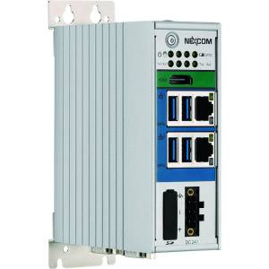 NIFE-105 Industrial Fieldbus Embedded Computer, Intel Atom x5-E3930 1.8 GHz, 4GB DDR3L RAM, 16GB eMMC, 1x HDMI, 2xGbE LAN, 2xRS232/422/485 support 2.5KV isolation, 4xUSB, 1xSIM Card Slot, 2xMini-PCIe, 24V DC Input, 60W AC/DC power adapter w/o power cord
