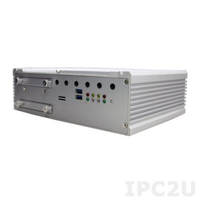 "ARTS-4770 Fanless Train PC with Intel Core i7- 3517UE CPU, Intel PCH QM77, DDR3, VGA/DVI-D, 2xGbit LAN, 4x PoE, 2xCOM, 4xUSB, DIO, Audio, 2x SIM Socket, 2x2.5"" SATA HDD Bay, 9-36V DC-In, -20...+55"
