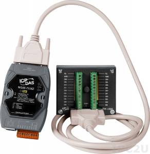 WISE-7118Z/S2 10-channel Thermocouple Input with High Voltage Protection and 6-channel Isolated Digital Output WISE PoE Controller (RoHS) and DN-1822 daughter board and 1.8m cable