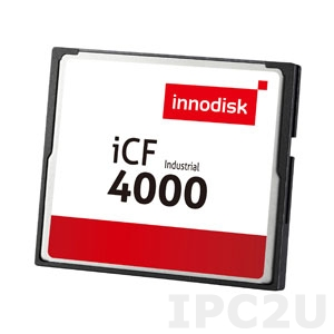 DC1M-02GD31W1DB 2GB Industrial CompactFlash Card, Innodisk iCF 4000, Dual Channel, Wide Temperature -40..+85 C